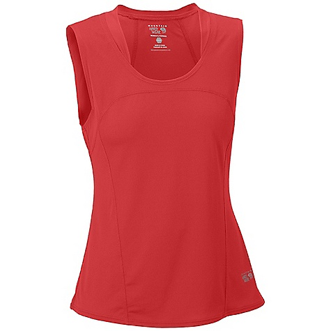 Surf On Sale. Mountain Hardwear Women's Wicked Tank DECENT FEATURES of the Mountain Hardwear Women's Wicked Lite Tank Wicking, fast drying fabric Antimicrobial finish controls odor Flat-lock seam construction eliminates chafe Reflective trim for visibility The SPECS Apparel Fit: Semi-Fitted Average Weight: 2.7 oz / 76 g Center Back Length: 24.5in. / 62 cm Body: Wicked Taper mesh (100% polyester) - $14.99