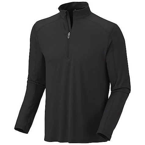 On Sale. Free Shipping. Mountain Hardwear Men's Butterman 1-2 Zip DECENT FEATURES of the Mountain Hardwear Men's Butterman 1/2 Zip Wicking, fast drying, stretch fabric Zip neck for ventilation Chin guard for comfort Rear zip pocket secures valuables Antimicrobial finish controls odor Flat-lock seam construction eliminates chafe UPF 50 sun protection The SPECS Average Weight: 8.7 oz / 246 g Center Back: 28in. / 71 cm Body: P. Butter Jersey (87% polyester, 13% elastane - $43.99