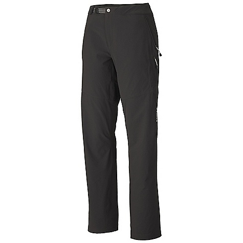 On Sale. Free Shipping. Mountain Hardwear Women's Chockstone Pant DECENT FEATURES of the Mountain Hardwear Women's Chockstone Pant Micro-Chamois-lined waist for comfort under a harness Integrated webbing belt with buckle closure for easy fit adjustments Lots of pockets for storage Inseam gusset and knee articulation for mobility Inner twilltape tabs for resourceful gaiter-making The SPECS Average Weight: 11 oz / 315 g Inseam: 30, 32, 34in. / 76, 81, 86 cm Body: Chockstone doubleweave Soft-shell (91% nylon, 9% elastane) - $73.99