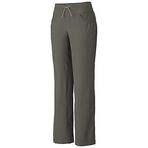 Free Shipping. Mountain Hardwear Women's Petralla Pant DECENT FEATURES of the Mountain Hardwear Women's Petralla Pant Durable, soft fabric with tons of stretch for freedom of movement Adjust your hem to three different lengths roll up pant legs and secure with stylish button Low profile waistband with drawstring adjustment Inseam gusset for mobility Low profile velcro tab at fly for comfort Two rear pockets with low profile envelope openings so items won't get lost Side zip pocket fits most smart phones UPF 50 sun protectio The SPECS Apparel Fit: Semi-Fitted Average Weight: 9.6 oz / 271 g Inseam: 30, 32, 34in. / 76, 81, 86 cm Body: Liteclimb Stretch Plain Weave (95% nylon, 5% elastane) - $69.95