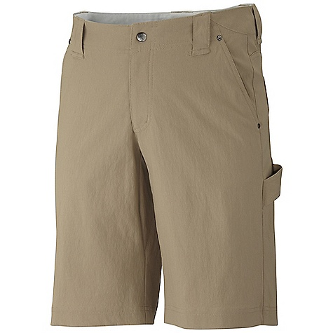 Free Shipping. Mountain Hardwear Men's Piero Short DECENT FEATURES of the Mountain Hardwear Men's Piero Short Durable, stretch canvas fabric Inseam gusset for mobility Belt loops Lots of pockets for storage Chalk bag loop at center back waistband DWR finish repels water The SPECS Average Weight: 14 oz / 387 g Inseam: 12in. / 30 cm Body: Salado Stretch Canvas (95% nylon, 5% elastane) Lining: Micro- Chamois (100% brushed polyester - $74.95