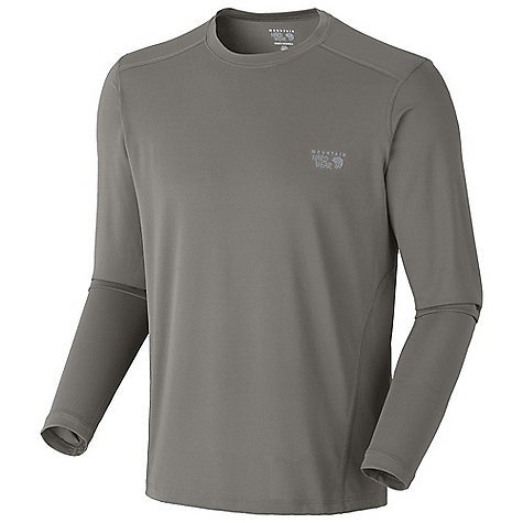 Mountain Hardwear Men's Double Wicked Lite T Long Sleeve Shirt DECENT FEATURES of the Mountain Hardwear Men's Double Wicked Lite T Long Sleeve Shirt Wicking, fast drying fabric Antimicrobial finish controls odor Flat-lock seam construction eliminates chafe Imported The SPECS Apparel Fit: Semi-Fitted Average Weight: 5.6 oz / 158 g Center Back Length: 27in. / 69 cm Body: Wicked Taper Mesh (100% polyester) - $41.95