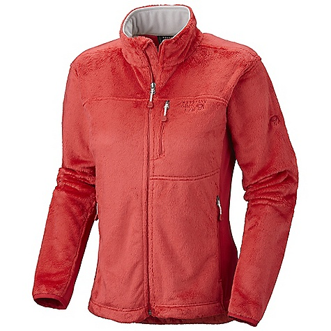 On Sale. Free Shipping. Mountain Hardwear Women's Pyxis Tech Jacket DECENT FEATURES of the Mountain Hardwear Women's Pyxis Tech Jacket Soft, warm and luscious fleece Technostretch underarm and side panels for mobility Zippered hand and chest pockets Dual hem drawcords for quick fit adjustments Fleece-lined chin guard prevents zipper chafe The SPECS Average Weight: 1 lb / 451 g Center Back Length: 26in. / 66 cm Body: Double Shot Velboa 100% polyester Panel: Technostretch 93% polyester, 7% elastane - $67.99