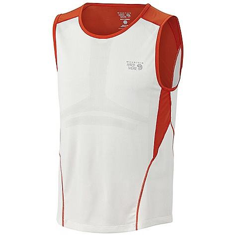 Surf Free Shipping. Mountain Hardwear Men's Way2Cool Tank DECENT FEATURES of the Mountain Hardwear Men's Way2Cool Tank Cool.Q Zero provides an immediate and ongoing cooling sensation Rigorously athlete tested MicroClimate Zoning: engineered mesh knit construction for ventilation Wicking, fast-drying fabric Antimicrobial finish controls odor The SPECS Average Weight: 3.5 oz /101 g Center Back Length: 26in. / 66 cm Body: MCZ engineered Venting Jersey (100% polyester) Panel: Cool.Q Zero Stretch Softie Jersey (92% polyester, 8% elastane) - $51.95