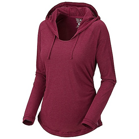 On Sale. Free Shipping. Mountain Hardwear Women's Pandra Long Sleeve Hoody DECENT FEATURES of the Mountain Hardwear Women's Pandra Long Sleeve Hoody Dri-release blended yarns wick moisture and minimize odor Low profile hood for close-fitting head and neck coverage Flat-lock seam construction eliminates chafe Side gathering detail for shaping The SPECS Apparel Fit: Semi-Fitted Average Weight: 6.8 oz / 192 g Center Back Length: 23in. / 58 cm Body: Emplacement Jersey (dri-release: 88% polyester, 12% wool) - $55.99