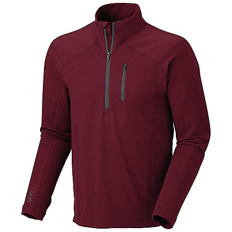 Free Shipping. Mountain Hardwear Men's Cragger Long Sleeve Zip T DECENT FEATURES of the Mountain Hardwear Men's Cragger Long Sleeve Zip T Plaited fabric construction Deep zipper opening at neck for ventilation Thumb loops keep hands warm Chest pocket with earpiece cord exit Flat-lock seam construction eliminates chafe UPF 30 sun protection The SPECS Apparel Fit: Semi-Fitted Average Weight: 9.7 oz / 276 g Center Back Length: 29in. / 74 cm Body: High rock terry (70% cotton, 30% polyester) - $67.95