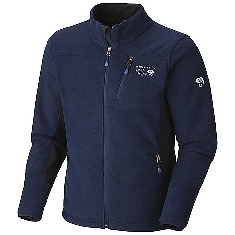 On Sale. Free Shipping. Mountain Hardwear Men's Dual Fleece Jacket DECENT FEATURES of the Mountain Hardwear Men's Dual Fleece Jacket Extremely warm, extremely soft Techno stretch underarm and side panels for mobility Zippered hand and chest pockets Dual hem drawcords for quick fit adjustments Fleece-lined chin guard prevents zipper chafe The SPECS Average Weight: 1 lb 7 oz / 650 g Center Back Length: 27in. / 69 cm Body: Reverse Monkey Fleece (100% polyester) Panel: Techno stretch (93% polyester, 7% elastane) - $99.96