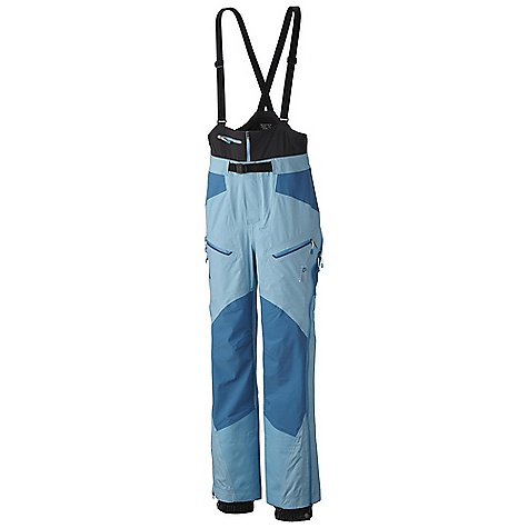 On Sale. Free Shipping. Mountain Hardwear Women's Drystein Pant DECENT FEATURES of the Mountain Hardwear Women's Drystein Pant Stretch knees and seat for increased mobility and comfort Softshell half bib with zippered pocket and adjustable suspenders Internal snow gaiter 6-slider watertight rainbow rear-zip for easy on/off The SPECS Average Weight: 1 lb 5 oz / 595 g Inseam: 30, 32, 34in. / 76, 81, 86 cm Body: Dry.Q Elite 40D 3L (100% nylon) Panel: Dry.Q Stretch 3L (85% nylon, 15% elastane) - $336.99