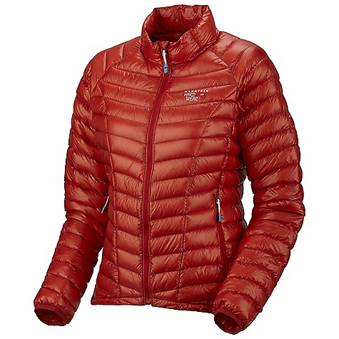 Free Shipping. Mountain Hardwear Women's Ghost Whisperer Down Jacket DECENT FEATURES of the Mountain Hardwear Women's Ghost Whisperer Down Jacket Quilted construction holds insulation in place Two front hand warmer pockets Jacket stows in pocket Lightweight single pull hem drawcord Full elastic cuffs slide easily over layers to seal in warmth The SPECS Average Weight: 6 oz / 170 g Center Back Length: 25in. / 64 cm Body: Whisperer 7D x 10D Ripstop Nylon Insulation: 850-Fill Goose Down - $284.95