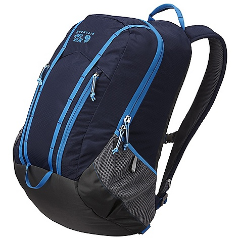 On Sale. Free Shipping. Mountain Hardwear Homer DECENT FEATURES of the Mountain Hardwear Homer Tough 210D HexRip and 420D nylon body panels combine with padded 420D nylon bottom and fully bound seams to ensure durability and long life Fully padded backpanel and shoulder straps with spacer mesh provide comfortable cushioning and ventilation Roomy main compartment with burly #10 YKK zip and multifunction hydration / laptop sleeve Organizer in main compartment includes two padded pockets ideal for delicate electronics Two zippered pockets on front panel offer additional storage and organization Dual daisy chains offer convenient lash / clip points Side mesh pockets with reflective tabs keep water bottles handy Sternum strap and removable webbing waistbelt add stability when needed The SPECS Capacity: 1850 cubic inches / 30 liter Weight: 2 lbs 3 oz / 1 kg Body: 210D Hexnut Ripstop Nylon Bottom: 420D HD Nylon - $70.99