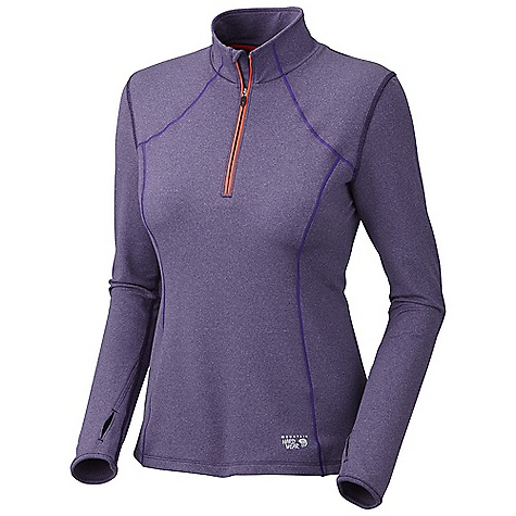 On Sale. Free Shipping. Mountain Hardwear Women's Beta Power 1-4 Zip DECENT FEATURES of the Mountain Hardwear Women's Beta Power 1/4 Zip Zippered back pocket for secure storage Flat-lock seam construction eliminates chafe Reflective trim for visibility Thumb loops keep hands warm The SPECS Average Weight: 10 oz / 279 g Center Back Length: 25.5in. / 65 cm Body: Beta French Terry 85% polyester, 15% elastane - $43.99