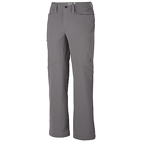 On Sale. Free Shipping. Mountain Hardwear Men's Winter Wander Pant DECENT FEATURES of the Mountain Hardwear Men's Winter Wander Pant Updated: Style lines Wide, low-profile waistband for long-wearing comfort under a pack Durable, four-way stretch nylon fabric provides excellent range of motion Front hand pockets Secure side zip pocket Full-length inseam gusset for mobility Adjustable drawcord cuffs for quick fit adjustments DWR finish repels water UPF 50 The SPECS Apparel Fit: Semi-Fitted Average Weight: 1 lb 2 oz / 518 g Inseam: 30, 32, 34in. / 76, 81, 86 cm Body: TufStretch (58% nylon, 31% polyester, 11% elastane) - $81.99