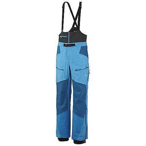 On Sale. Free Shipping. Mountain Hardwear Men's Drystein Pant DECENT FEATURES of the Mountain Hardwear Men's Drystein Pant Stretch knees and seat for increased mobility and comfort Softshell half bib with zippered pocket and adjustable suspenders 6-slider watertight rainbow rear-zip for easy on/off Internal snow gaiter The SPECS Average Weight: 1 lb 6 oz / 623 g Inseam: 30, 32, 34in. / 76, 81, 86 cm Body: Dry.Q Elite 40D 3L (100% nylon) Panel: Dry.Q Stretch 3L (85% nylon, 15% elastane) - $359.96