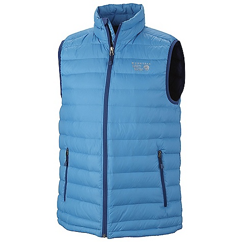 On Sale. Free Shipping. Mountain Hardwear Men's Nitrous Vest DECENT FEATURES of the Mountain Hardwear Men's Nitrous Vest Quilted construction holds insulation in place Two front handwarmer pockets Dual hem drawcords seal in warmth Vest stows in pocket The SPECS Apparel Fit: Standard Average Weight: 9 oz / 255 g Center Back Length: 27.5in. / 70 cm Body: 30d hi-Five ripstop (100% nylon) Insulation: 800-fill goose Down - $112.99