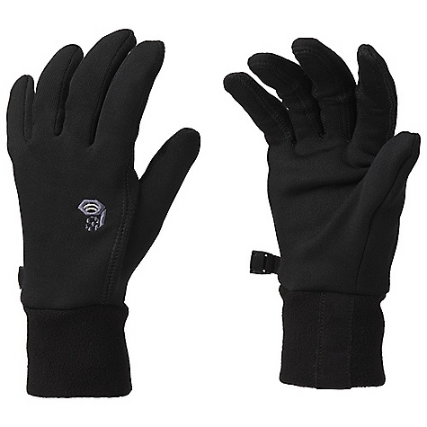 Mountain Hardwear Women's Stimulus Stretch Glove DECENT FEATURES of the Mountain Hardwear Women's Stimulus Stretch Glove Designed to fit a woman's smaller hand proportions Snug-fitting, Technostretch keeps hands warm and allows them to breathe Flat-lock construction for a seamless fit Wear alone or use as a liner Conductive stretch fleece palm functions with touchscreen devices The SPECS Average Weight: 1.3 oz / 36 g Body: Technostretch (93% polyester, 7% elastane) - $44.95