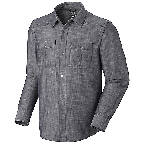 On Sale. Free Shipping. Mountain Hardwear Men's Strickland L-S Shirt DECENT FEATURES of the Mountain Hardwear Men's Strickland Long Sleeve Shirt Two chest pockets for storage Simple button front closure The SPECS Apparel Fit: Semi-Fitted Average Weight: 11 oz / 311 g Center Back Length: 29in. / 74 cm Body: Slub chambray (100% cotton) - $41.99