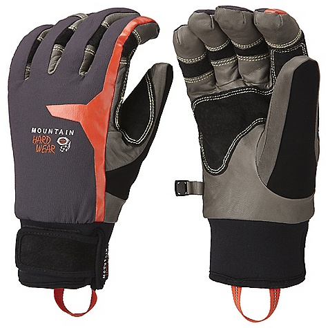 Entertainment Free Shipping. Mountain Hardwear Hydra Pro Glove DECENT FEATURES of the Mountain Hardwear Hydra Pro Glove 4-way stretch nylon softshell fabric offers a snug, flexible fit Wool blend fleece lining on back of hand for all day comfort Durable water-resistant goatskin palm and fingers All leather palm is rugged and very dexterous Soft suede thumb patch for wiping wet noses Carabiner loop for hanging gloves off harness keeps gloves dry when not in use Adjustable neoprene cuff gasket ensures warmth and weather-proofness The SPECS Average Weight: 6 oz / 176 g Body: 4-Way Stretch Nylon Softshell (92% nylon, 8% elastane) Laminate: OutDry Waterproof Technology Palm: Water-resistant Goatskin Leather Insulation: Thermic Micro - $124.95