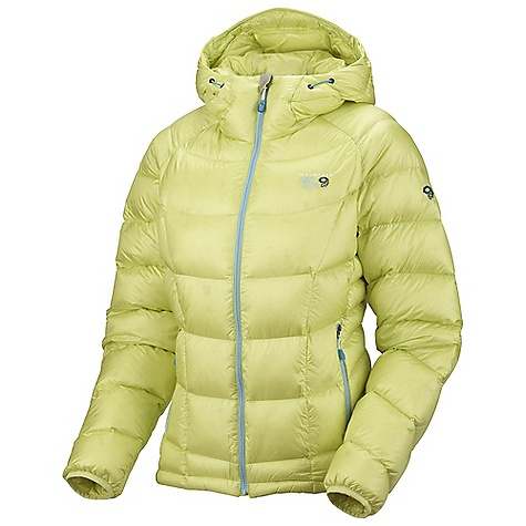 On Sale. Free Shipping. Mountain Hardwear Women's Hooded Phantom Jacket DECENT FEATURES of the Mountain Hardwear Women's Hooded Phantom Jacket Two front handwarmer pockets Low profile, insulated hood Dual hem drawcords seal in warmth Jacket stows in pocket Interior water bottle pocket The SPECS Average Weight: 15 oz / 425 g Center Back Length: 27in. / 69 cm Body: 20D Ripstop (100% nylon) Insulation: Q.Shield Down 850-fill - $194.99