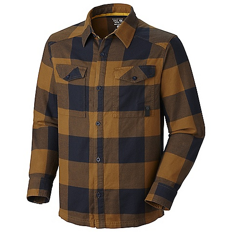 Free Shipping. Mountain Hardwear Men's Haydon L-S Shirt DECENT FEATURES of the Mountain Hardwear Men's Haydon Long Sleeve Shirt Two chest pockets for storage Simple button front closure Brushed flannel fabric finish provides warmth The SPECS Apparel Fit: Semi-Fitted Average Weight: 7.3 oz / 208 g Center Back Length: 29in. / 74 cm Body: Haydons howling Plaid (100% cotton) - $69.95