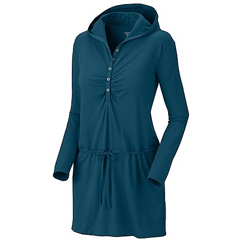 Entertainment Free Shipping. Mountain Hardwear Women's Hooded Butter Dress DECENT FEATURES of the Mountain Hardwear Women's Hooded Butter Dress Low profile hood for close-fitting head and neck coverage Flat-lock seam construction eliminates chafe The SPECS Average Weight: 10 oz / 293 g Apparel Fit: Semi-Fitted Center Back Length: 34in. / 86 cm Body: P. Butter Jersey (87% polyester, 13% elastane) - $79.95