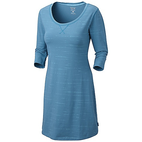 Entertainment Free Shipping. Mountain Hardwear Women's Tonganessa Dress DECENT FEATURES of the Mountain Hardwear Women's Tonganessa Dress Flat-lock seam construction eliminates chafe Detailed with tonal print The SPECS Average Weight: 10 oz / 288 g Center Back Length: 36in. / 91 cm Body: V6 Stretch Jersey (90% cotton, 10% elastane) - $69.95