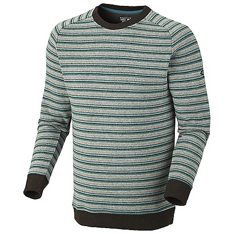 On Sale. Free Shipping. Mountain Hardwear Men's Mantega Stripe Sweater DECENT FEATURES of the Mountain Hardwear Men's Mantega Stripe Sweater Flat-lock seam construction eliminates chafe The SPECS Average Weight: 1 lb 1 oz / 473 g Apparel Fit: Semi-Fitted Center Back Length: 28.5in. / 72 cm Body: Mantega auto Stripe Fleece (40% polyester, 40% reclaimed wool, 18% nylon, 2% other fibers - $80.99