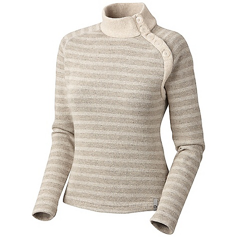 On Sale. Free Shipping. Mountain Hardwear Women's Sevina Sweater DECENT FEATURES of the Mountain Hardwear Women's Sevina Sweater Functional buttons allow you to adjust neck placket Flat-lock seam construction eliminates chafe The SPECS Apparel Fit: Semi-Fitted Average Weight: 15 oz / 413 g Center Back Length: 24in. / 61 cm Body: Rana Tweed Stripe Fleece (40% polyester, 40% reclaimed wool, 18% nylon, 2% other fibers) - $76.99