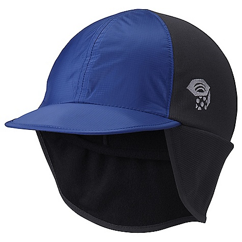 Mountain Hardwear Alpine Ascent Ball Cap DECENT FEATURES of the Mountain Hardwear Alpine Ascent Ball Cap 2.5in. Brim for full face coverage Foam brim with moldable edge is lightweight and packable Stretch fit Full ear coverage for warmth Drop down ear coverage can be folded up to the inside or outside Snug fit for use under hood or helmet The SPECS Average Weight: 1.8 oz / 51 g Body: Stretch Fleece (93% polyester, 7% elastane) Panel: 50D Ark Ripstop 2.5 (100% nylon) - $34.95