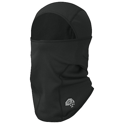 Mountain Hardwear Hardface Stretch Convertible Balaclava DECENT FEATURES of the Mountain Hardwear Hardface Stretch Convertible Balaclava Snug fit for use under hood or helmet Full face coverage Hinged at sides allows for convertibility The SPECS Average Weight: 3 oz / 77 g Body: Stretch Fleece (93% polyester, 7% elastane) - $34.95