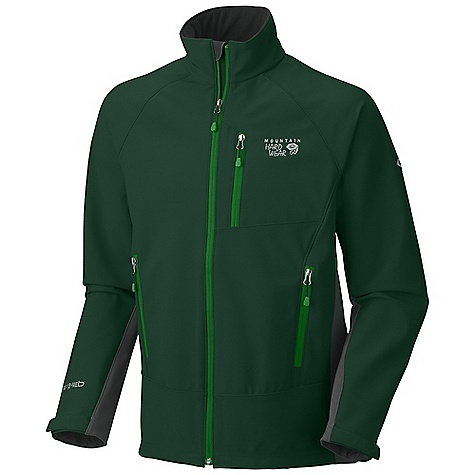On Sale. Free Shipping. Mountain Hardwear Men's G50 Jacket DECENT FEATURES of the Mountain Hardwear Men's G50 Jacket Highly breathable, windproof soft shell with a soft brushed interior Zip handwarmer pockets Dual hem drawcords for quick fit adjustments Zip chest stash pocket Micro-Chamois-lined chin guard eliminates zipper chafe The SPECS Apparel Fit: Standard Average Weight: 1 lb 5 oz / 595 g Center Back Length: 29in. / 74 cm Body: AirShield Core Outerwear Soft-shell (86% polyester, 14% elastane) - $156.99
