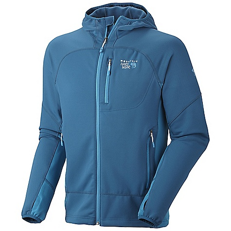 Free Shipping. Mountain Hardwear Men's Desna Jacket DECENT FEATURES of the Mountain Hardwear Men's Desna Jacket Close fitting hood, designed to fit under helmet Dual hem drawcords for quick fit adjustments Zip chest stash pocket Integrated thumb loops for warmth Zip handwarmer pockets The SPECS Apparel Fit: Active Average Weight: 1 lb 1 oz / 482 g Center Back Length: 27in. / 69 cm Body: Stretch Fleece (93% polyester, 7% elastane) - $164.95