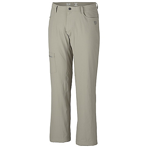 Free Shipping. Mountain Hardwear Men's Yumalino Pant DECENT FEATURES of the Mountain Hardwear Men's Yumalino Pant Wide, low-profile waistband for long-wearing comfort under a pack Cozy-soft fleece lining Durable, four-way stretch nylon fabric provides excellent range of motion Secure side zip pocket Full-length inseam gusset for mobility DWR finish repels water Side zip pocket for storage UPF 50 The SPECS Apparel Fit: Semi-Fitted Average Weight: 1 lb 3 oz / 550 g Inseam: 30, 32, 34in. / 76, 81, 86 cm Body: Switchback Plus (85% nylon, 15% elastane) Lining: Microfleece Lining(100% polyester) - $79.95