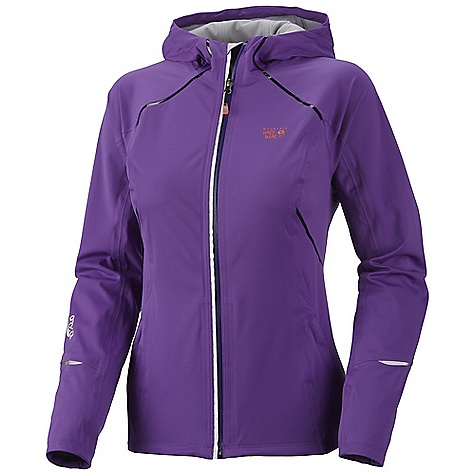 Free Shipping. Mountain Hardwear Women's Effusion Hooded Jacket DECENT FEATURES of the Mountain Hardwear Women's Effusion Hooded Jacket Close fitting, athletic cut with a long-cut back for performance Fully waterproof seam taped construction DWR finish repels water Reflective trim for visibility The SPECS Average Weight: 11 oz / 326 g Apparel Fit: Active Center Back Length: 25in. / 64 cm Body: Active Solution 3L Jersey (100% polyester) - $239.95