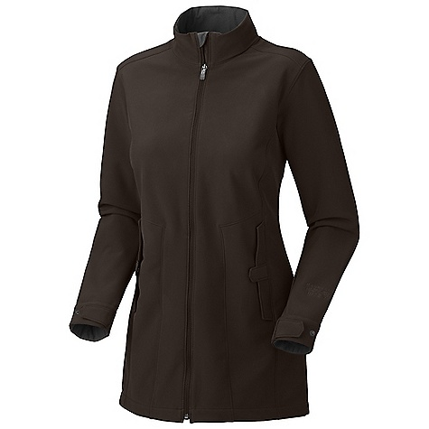 Free Shipping. Mountain Hardwear Women's Celerina Coat DECENT FEATURES of the Mountain Hardwear Women's Celerina Coat Adjustable snap cuff tabs Zip hand warmer pockets with covered placket snap closure Micro-Chamois-lined chin guard prevents zipper chafe The SPECS Average Weight: 1 lb 5 oz / 595 g Center Back Length: 32in. / 81 cm Body: Urban Soft shell (100% polyester) - $199.95