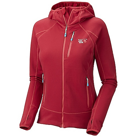 On Sale. Free Shipping. Mountain Hardwear Women's Solidus Jacket DECENT FEATURES of the Mountain Hardwear Women's Solidus Jacket Close fitting hood, designed to fit under helmet Dual hem drawcords for quick fit adjustments Zip chest stash pocket Integrated thumb loops for warmth Zip handwarmer pockets The SPECS Apparel Fit: Active Average Weight: 15 oz / 425 g Center Back Length: 25in. / 64 cm Body: Stretch Fleece (93% polyester, 7% elastane) - $89.99