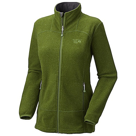 Free Shipping. Mountain Hardwear Women's Toasty Tweed Fleece Jacket DECENT FEATURES of the Mountain Hardwear Women's Toasty Tweed Fleece Jacket Two front handwarmer pockets Dual hem drawcords for quick fit adjustments Micro-Chamois-lined chin guard prevents zipper chafe The SPECS Average Weight: 1 lb / 453 g Center Back Length: 26in. / 66 cm Body: Jacquard Sweater Fleece 100% polyester - $134.95