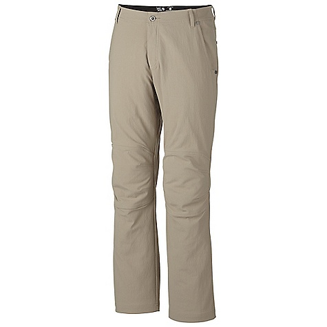 Free Shipping. Mountain Hardwear Men's Piero Pant DECENT FEATURES of the Mountain Hardwear Men's Piero Pant Durable, stretch canvas fabric Micro-Chamois-lined waist for comfort under a harness Inseam gusset and articulated knees for mobility DWR finish sheds moisture UPF 50 The SPECS Average Weight: 1 lb 4 oz / 562 g Inseam: 30, 32, 34in. / 76, 81, 86 cm Body: Salado Stretch Canvas (95% nylon, 5% elastane) - $89.95
