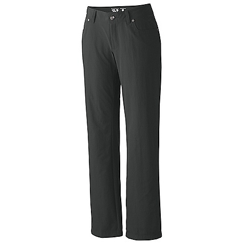 Free Shipping. Mountain Hardwear Women's LaStrada Tech Pant DECENT FEATURES of the Mountain Hardwear Women's LaStrada Tech Pant Two back pockets with zippered closure One side pocket with zipper for secure storage DWR finish repels water The SPECS Average Weight: 10 oz / 295 g Inseam: 30, 32, 34in. / 76, 81, 86 cm Body: Strolling Stretch Twill (94% nylon, 6% elastane) - $84.95