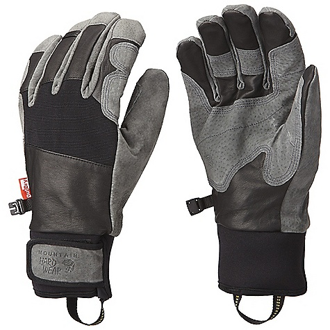Free Shipping. Mountain Hardwear Pistolero Glove DECENT FEATURES of the Mountain Hardwear Pistolero Glove Q.Shield is an advanced water repellency permanently fused into shell fabrics to prevent water from soaking in OutDry Waterproof Technology: extremely waterproof, totally windproof Water-resistant goatskin leather palm with pigskin reinforcements at the palm and fingers Corded nylon at the back of hand provides stretch for a flexible fit Lined with Velboa Raschel on the back of the hand and brushed tricot on the palm for warmth and comfort Trim, articulated fit offers excellent grip, flexibility and finger sensitivity Short gauntlet with Velcro wrist closure for a secure fit Carabiner loop to clip and hang gloves Pull-on webbing loop at wrist The SPECS Average Weight: 5.6 oz / 160 g Body: Water-resistant Goatskin Leather Laminate: OutDry Waterproof Technology Lining: Double Shot Velboa (100% Polyester) Palm: Water-resistant Pigskin - $114.95
