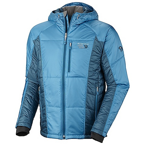 On Sale. Free Shipping. Mountain Hardwear Men's Hooded Compressor Jacket DECENT FEATURES of the Mountain Hardwear Men's Hooded Compressor Jacket Dual hem drawcords for quick fit adjustments Insulated hood with single-pull adjustment system Zip handwarmer pockets Soft, in.Butter Jerseyin. cuffs Interior zip pocket for keys, ID, other small items The SPECS Average Weight: 1 lb 1 oz / 483 g Center Back Length: 28.5in. / 72 cm Insulation: 80g Thermal.Q Elite 20D Ripstop (100% nylon) - $173.99