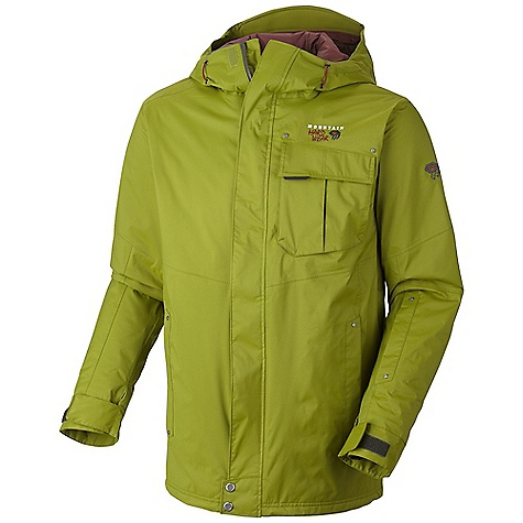 Free Shipping. Mountain Hardwear Men's Snowzilla Insulated Jacket DECENT FEATURES of the Mountain Hardwear Men's Snowzilla Insulated Jacket Attached, adjustable, helmet compatible hood Pit zips for additional ventilation Attached, adjustable stretch powder skirt Plenty of interior pockets for all your gear One-handed hood and hem drawcords for quick adjustments Zip handwarmer pockets Micro-Chamois-lined chin guard eliminates zipper chafe The SPECS Average Weight: 2 lbs / 910 g Center Back Length: 32in. / 81 cm Body: 2L Dobby (100% nylon) Insulation: 80g thermic micro - $274.95