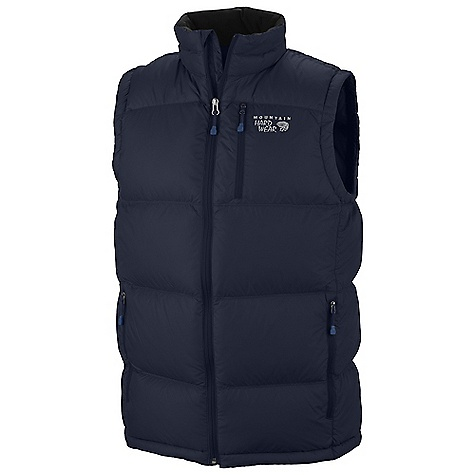 Free Shipping. Mountain Hardwear Men's LoDown Vest DECENT FEATURES of the Mountain Hardwear Men's LoDown Vest Two front hand warmer pockets Chest pocket for quick access to essentials Dual hem drawcords for quick fit adjustments The SPECS Average Weight: 11 oz / 311 g Center Back Length: 28in. / 71 cm Body: 30D Micro Taffeta (100% nylon) Insulation: 650-Fill Goose Down - $154.95