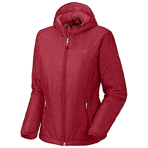 Free Shipping. Mountain Hardwear Women's Thermostatic Hooded Jacket DECENT FEATURES of the Mountain Hardwear Women's Thermostatic Hooded Jacket Two front handwarmer pockets Dual hem drawcords for quick fit adjustments Low profile elastic cuffs for easy layering Low profile, insulated hood Jacket stows in pocket The SPECS Apparel Fit: Standard Average Weight: 12.5 oz / 354 g Center Back Length: 25.5in. / 65 cm Body: 15d ripstop (100% nylon) Insulation: 60g thermic Micro tk - $199.95