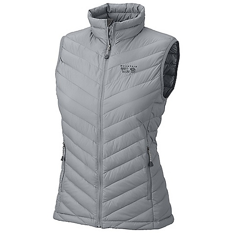 On Sale. Free Shipping. Mountain Hardwear Women's Nitrous Vest DECENT FEATURES of the Mountain Hardwear Women's Nitrous Vest Quilted construction holds insulation in place Two front handwarmer pockets Dual hem drawcords seal in warmth Vest stows in pocket The SPECS Apparel Fit: Standard Average Weight: 7 oz / 198 g Center Back Length: 25in. / 64 cm Body: 30d Hi-Five ripstop (100% nylon) Insulation: 800-fill goose Down - $95.99