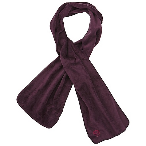 On Sale. Mountain Hardwear Posh Scarf DECENT FEATURES of the Mountain Hardwear Posh Scarf Wind-resistant, breathable, soft and lightweight High warmth-to-weight ratio Reversible The SPECS Average Weight: 5 oz / 145 g Width: 9in. Body: Voluptuous Velboa (100% polyester) - $17.99