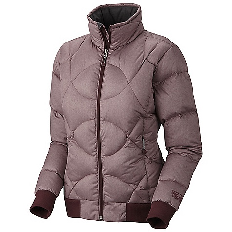 Free Shipping. Mountain Hardwear Women's Caramella Jacket DECENT FEATURES of the Mountain Hardwear Women's Caramella Jacket Rib knit trims at hem and cuffs Two front fleece-lined hand warmer pockets Fleece-lined chin guard prevents zipper chafe Interior zip pocket stores ID, keys, other small essentials The SPECS Average Weight: 1 lb 3 oz / 539 g Center Back Length: 25in. / 64 cm Body: Melange Twill (100% polyester) Insulation: 650-Fill Goose Down - $259.95