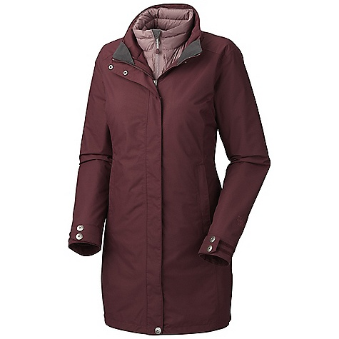 On Sale. Free Shipping. Mountain Hardwear Women's Citilicious Trifecta Parka DECENT FEATURES of the Mountain Hardwear Women's Citilicious Trifecta Parka Two front hand warmer pockets Adjustable cuffs for fit options Dual hem drawcords for quick fit adjustments Interior zip pocket stores ID, keys, other small essentials Insulated with lofty and warm 650-Fill goose down Two front fleece-lined hand warmer pockets Internal storage pocket Micro-Chamois-lined chin guard prevents zipper chafe The SPECS for Shell Average Weight: 1 lb 3 oz / 539 g Center Back Length: 34in./ 86 cm Body: Full Dull Dobby (100% nylon) The SPECS for Liner Average Weight: 13 oz / 369 g Center Back Length: 30in./ 76 cm Body: 30D Micro Taffeta (100% nylon) Insulation: 650-Fill Goose Down - $379.99