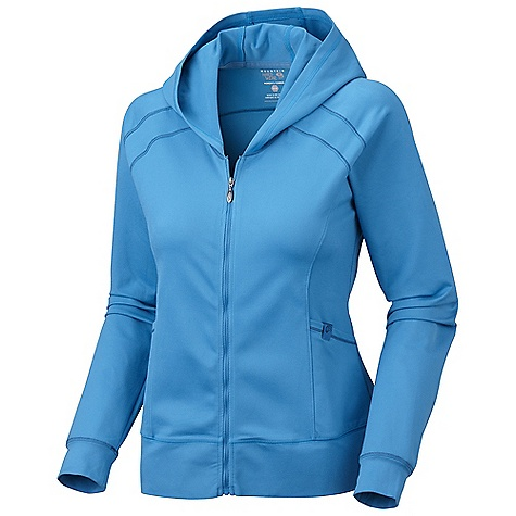 Free Shipping. Mountain Hardwear Women's Roga Butter Hoody DECENT FEATURES of the Mountain Hardwear Women's Roga Butter Hoody Low profile hood for a snug fit Two front hand pockets Flat-lock seam construction eliminates chafe The SPECS Apparel Fit: Semi-Fitted Average Weight: 14 oz / 396 g Center Back Length: 23.5in. / 60 cm Body: Better Butter heavy Jersey (90% polyester, 10% elastane) - $109.95