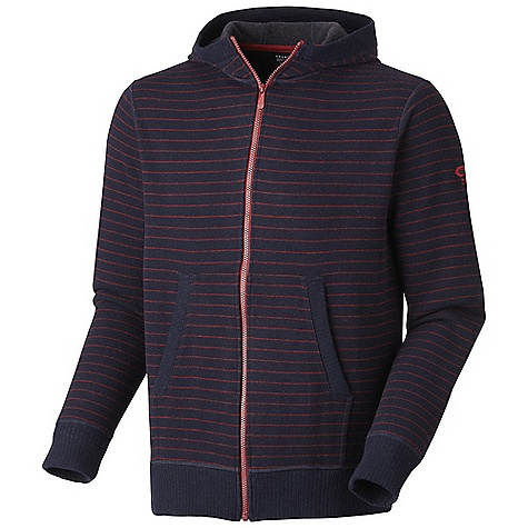 Free Shipping. Mountain Hardwear Men's Melbu Stripe Hoody DECENT FEATURES of the Mountain Hardwear Men's Melbu Stripe Hoody Flat-lock seam construction eliminates chafe Two hand pockets Slight mock neck detail The SPECS Average Weight: 1 lb 4 oz / 559 g Center Back Length: 28in. / 71 cm Body: Melbu Stripe Sweater Fleece (40% wool, 40% polyester, 18% nylon, 2% other) - $144.95