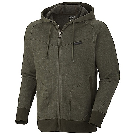 Free Shipping. Mountain Hardwear Men's Progresrer Full Zip Hoody DECENT FEATURES of the Mountain Hardwear Men's Progresrer Full Zip Hoody Two hand pockets Flat-lock seam construction eliminates chafe The SPECS Average Weight: 1 lb 5 oz / 582 g Center Back Length: 27.5in. / 70 cm Body: Cipher Fleece heather (55% cotton, 45% polyester) Apparel Fit: Relaxed - $89.95